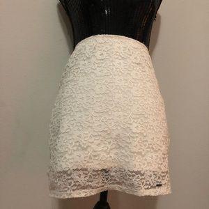 Hollister lace skirt